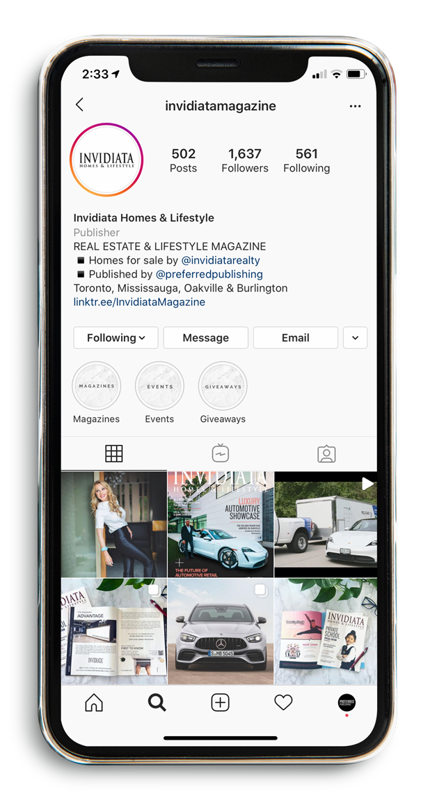 Invidiata Homes & Lifestyle Instagram Feed