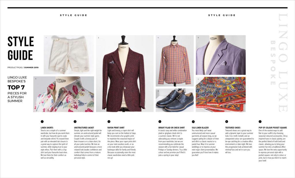 "Lingo Luxe Bespoke – ""Shop The Look"""